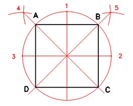 Disegno tecnico geometria piana figure piane for Costruzione ottagono dato il lato