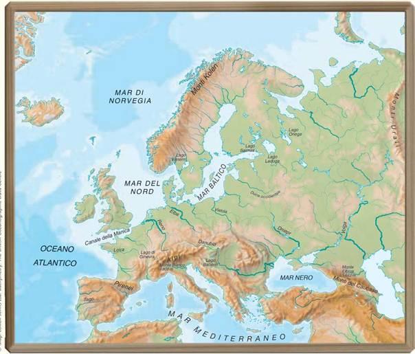 Cartina Norvegia Da Stampare.I Mari L Europa Cartina Muta Da Osservare E Completare Laceprof Materiali