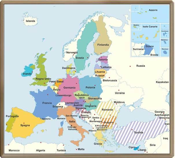 Legenda i paesi colorati sono membri dell unione europea ue i paesi a