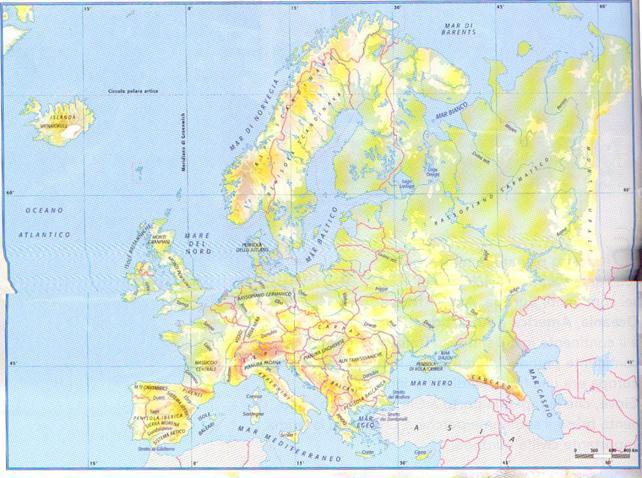 Laghi Europa Cartina.Cartina Muta Europa Con Capitali
