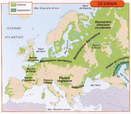 Cartina Muta Fiumi E Laghi Europei