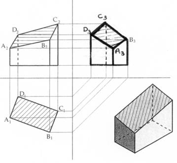 Disegno tecnico sezioni di solidi e tipi di sezioni for Piani di costruzione di un garage