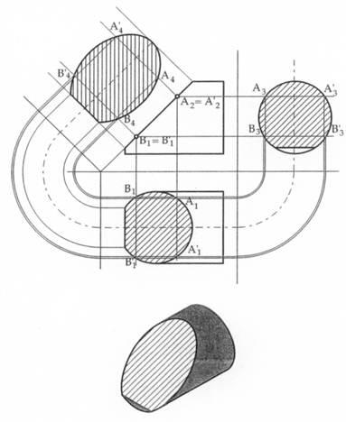 Disegno tecnico sezioni di solidi e tipi di sezioni for Disegno di piano domestico