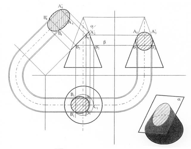 Disegno tecnico sezioni di solidi e tipi di sezioni for Disegno del piano di costruzione