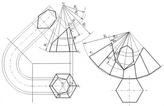 Sviluppi di solidi nel disegno tecnico for Piani di cabina di base di base