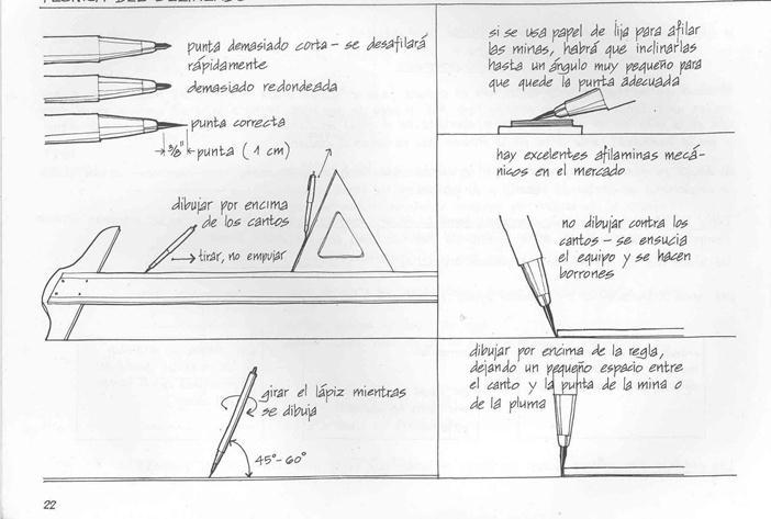 Tipos de lineas y normalización para dibujo tecnico