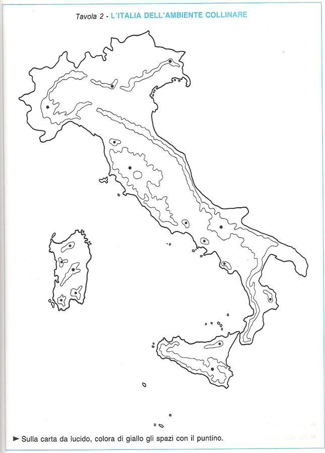 Cartina Fisica Italia Colline.Colline