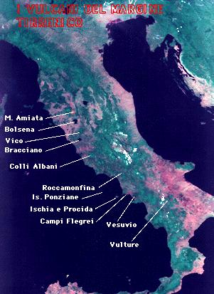 Cartina Italia Con Vulcani.Vulcani In Italia E Nel Mondo